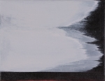 "elegie iv 2009 acrylic on linen (81⁄2"" x 11"")"