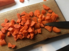 Two carrots chopped